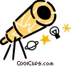 Telescopes Vector Clip Art graphic