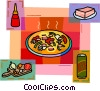 Vector Clip Art picture  of a Pizza