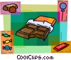 Chocolate bar with assorted candy Vector Clip Art picture