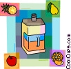 Vector Clipart image  of a Juice with pineapple, pears, apples