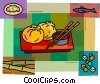 Vector Clip Art graphic  of a Japanese