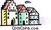 Vector Clipart graphic  of a Generic Buildings