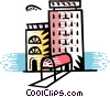 Vector Clipart graphic  of a Hotels and Motels