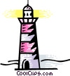 Lighthouses Vector Clipart illustration