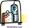 Vector Clip Art graphic  of a Luggage