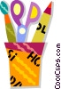 Vector Clip Art picture  of an art supplies