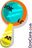 magnifying glass Vector Clipart graphic