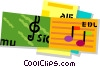 sheet music Vector Clipart illustration