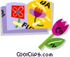 flower book Vector Clipart graphic