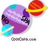 Vector Clipart illustration  of a planets