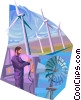 Wind Energy Vector Clipart image