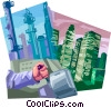 Vector Clip Art image  of a Electric Lights