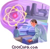 Nuclear power plant Vector Clipart illustration