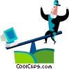 Balancing Vector Clipart illustration