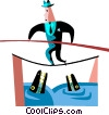 Vector Clip Art image  of a Risk