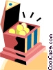 bank filled with gold Vector Clipart picture