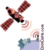 Vector Clipart graphic  of a Satellite