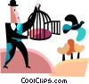 Vector Clip Art picture  of a Bird Houses and Cages