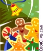 Vector Clipart image  of a gingerbread cookies