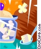sugar cubes Vector Clipart image