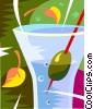 Vector Clip Art image  of a mixed drink