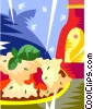 Vector Clip Art graphic  of a pasta