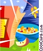 Vector Clipart illustration  of a bowl of cereal