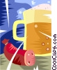 sausage and a mug of beer Vector Clip Art picture