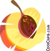 Vector Clip Art graphic  of a peach