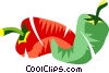Vector Clip Art graphic  of a hot peppers