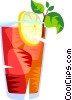 Vector Clip Art graphic  of a mixed drink