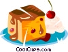 cake and ice cream Vector Clipart image