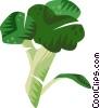Vector Clip Art graphic  of a broccoli