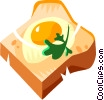 Vector Clip Art graphic  of a egg with toast