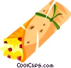 egg in flat bread Vector Clipart picture