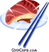 Vector Clip Art image  of a sushi