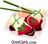 Japanese food Vector Clipart illustration