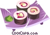 Vector Clipart illustration  of a sushi