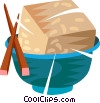 Vector Clipart image  of a Japanese food