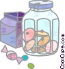 Vector Clip Art graphic  of an Assorted Confectionery