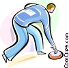 Vector Clipart graphic  of a Curling