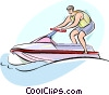 Personal Watercraft Vector Clipart illustration