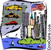 Vector Clipart picture  of a New York