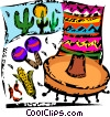 Vector Clip Art image  of a Mexico