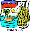 Vector Clip Art picture  of a Caribbean