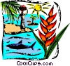 Beach Scenes Vector Clipart picture