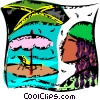 Vector Clipart graphic  of a Caribbean