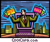 Online Transactions Vector Clipart image