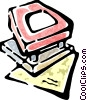 Vector Clipart graphic  of a hole punch