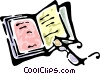 book and reading glasses Vector Clip Art picture